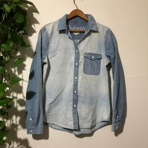 Madewell Ex Boyfriend Two Toned Perfect Chambray M